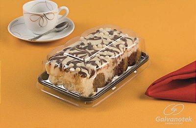 G62S Embalagem Mini torta/mini fatia 200grs Pta c/tmp 150 unids