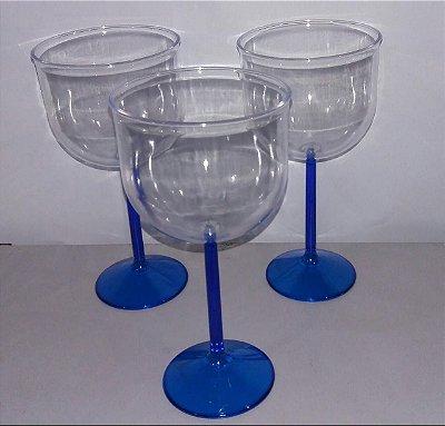 Taça Acrilica 500ml Gin Cristal Azul Royal Duravel unid