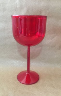 Taça Acrilica 500ml Gin Vermelha Duravel unid