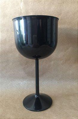 Taça Acrilica 500ml Gin Preta Duravel unid