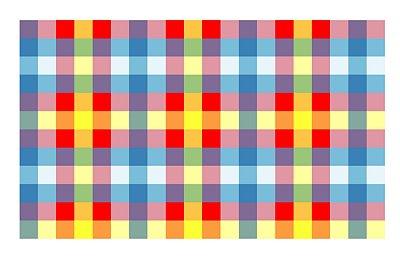 Toalha perolada 80x80 Xadrez Colorida 100 unids
