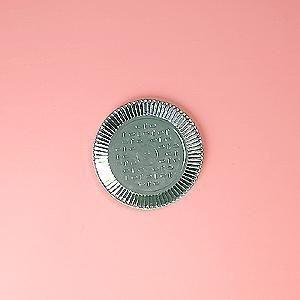 Prato papelão laminado nº 02 (19,5cm) unid