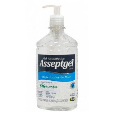 Álcool Gel 70% Asseptgel  Start 420grs