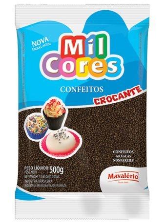 Confeito Brigadeiro Redondo chocolate Mil cores 500grs