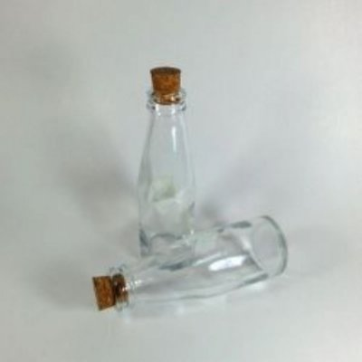 Mini garrafa plastica 30ml decorativa c/10 unids