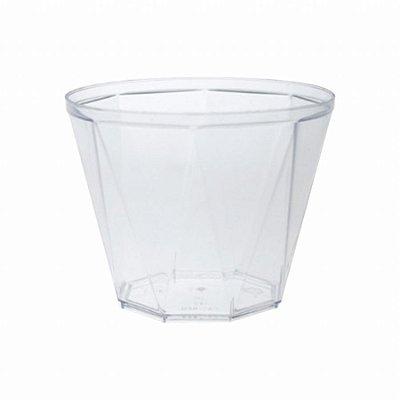 Pote acrilico 180ml Diamante Cristal s/ tmp 10 unids