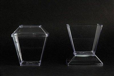 Pote Acrilico 150ml (Pic151) Square Cristal c/ tampa 400 unids
