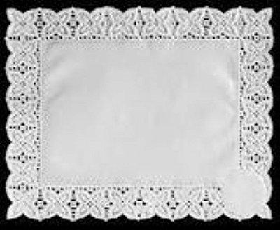Toalha Rendada Papel Mago (Doilies) mod 2520 (25x20) 12 unids