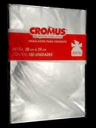 Saco Poli Transparente 30x44 c/100 unids Cromus
