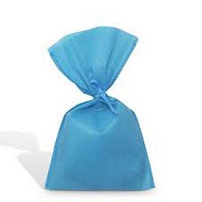 Saco Tnt 25x35 Azul Claro c/ cordão unid (consultar disponibilidade na loja)