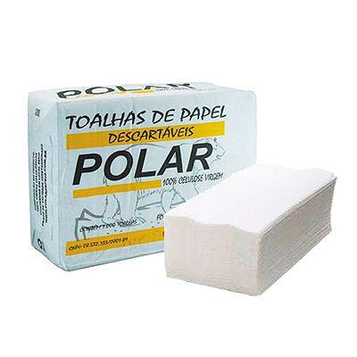 Toalha Interfolha Branca Polar 100% Celulose 2d (23x21) 1000 fls