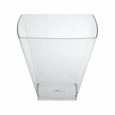Pote Acrilico 150ml (Pic151) Square Cristal s/ tampa 10unids