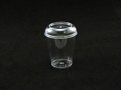 Copo Acrilico 40ml Cristal c/tampa 10 unids