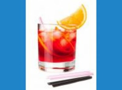 Canudo Drink Preto Strawplast 500 unids