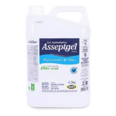 Álcool Gel 70% Asseptgel  Start 4,3kgs unid