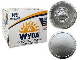 Marmitex aluminio nº09 1000ml (maquina) tampa aluminio Wyda 100 unids