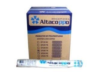 Copo Descartavel 180ML Branco Altacoppo 2500 unids