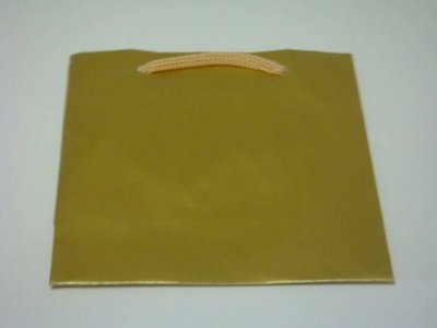 Sacola papel Ouro 20x15x7,5 (G) c/10 unids