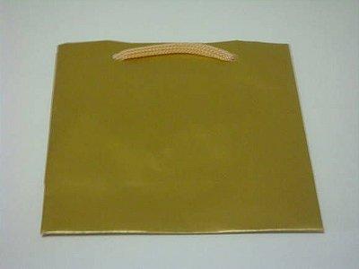 Sacola papel Ouro 10x10x4 (PP) c/10 unids