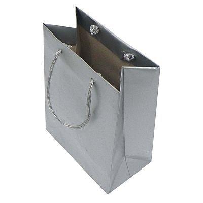 Sacola papel Prata 25x20x8 nº03 c/10 unids