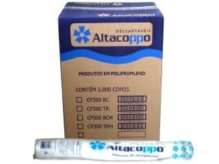 Copo descartavel 300ML Translucido Altacoppo 2000 unids