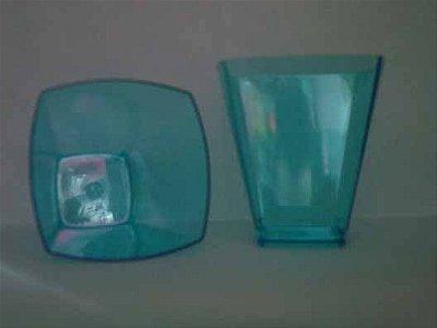 Copo Acrilico 50ml Azul (Pic51) Square 10 unids