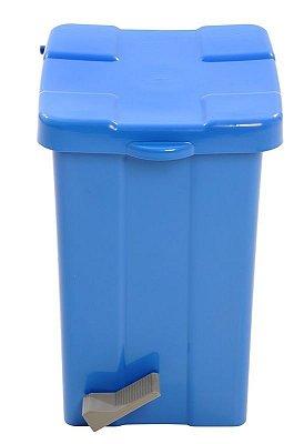 Lixeira Pedal 15lts Quadrada Azul Jsn unid
