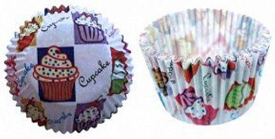 Forma papel Cupcake Bolinhos c/45 unids (consultar disponibilidade antes da compra)