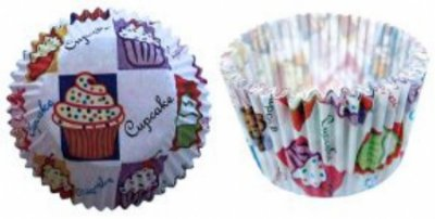 Forma papel Mini Cupcake Bolinho c/ 45 unids (consultar disponibilidade antes da compra)