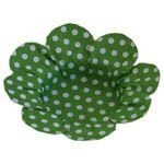 Forma Papel Cartão Flor Poá Verde escuro e Bco c/50 unids (consultar disponibilidade antes da compra)