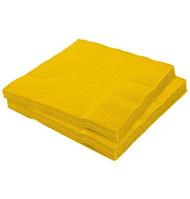 Guardanapo 25x25 Amarelo Fl Dupla 20 unids (consultar disponibilidade na loja)