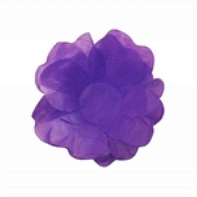 Forma Papel Seda Flor Roxa c/40 unids (consultar disponibilidade antes da compra)