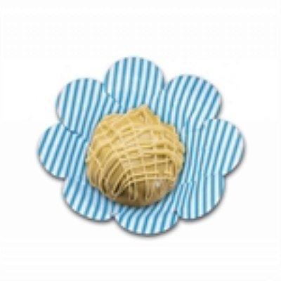 Forma Papel Cartão Flor Listras Azul c/50 unids (consultar disponibilidade antes da compra)