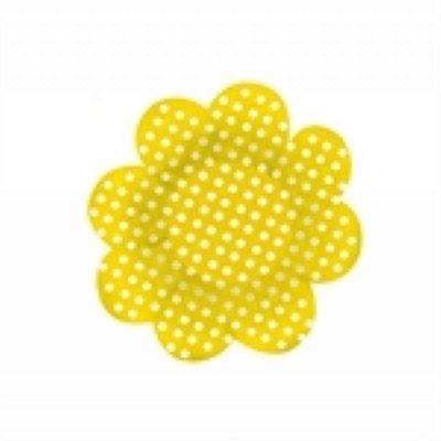 Forma Papel Cartão Flor Poá Amarelo/Bco c/50 unids (consultar disponibilidade antes da compra)