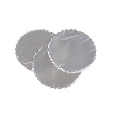 Fundo rendado celofane (Bopp) 9cm transparente c/100 unids
