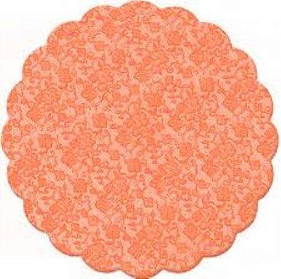 Fundo rendado celofane (Bopp) 09cm laranja c/100 unids