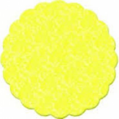 Fundo rendado celofane 09cm amarelo c/100 unids
