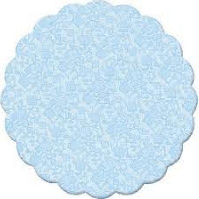 Fundo rendado celofane 09cm azul c/100 unids