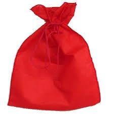 Saco Tnt 25x35 Vermelho c/cordao 50unids (consultar disponibilidade na loja)