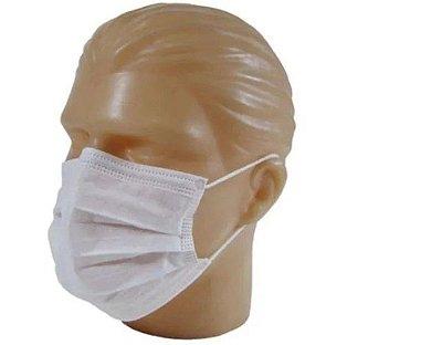 Mascara descartável Tnt tripla Branca 50 unids