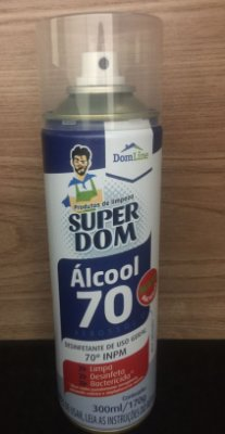 Álcool Spray 70% Dom Line 300ml