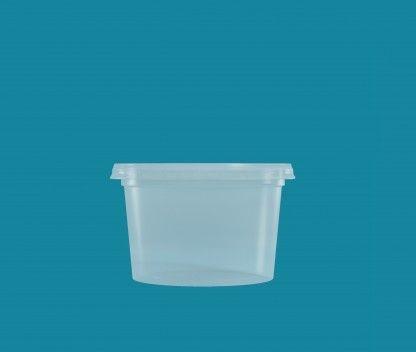 Pote Cristalpote PP 250ml c/tampa 25 unids