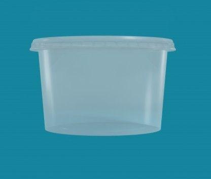 Pote Cristalpote PP 1000ml c/tampa 150 unids