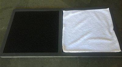 Tapete Sanitizante Higienizador 77x40 em E.V.A (Acompanha tapete p/secar os pes apos higienizar sapatos) unid