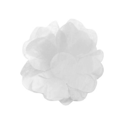 Forma Papel Seda Flor Branca c/40 unids (consultar disponibilidade antes da compra)