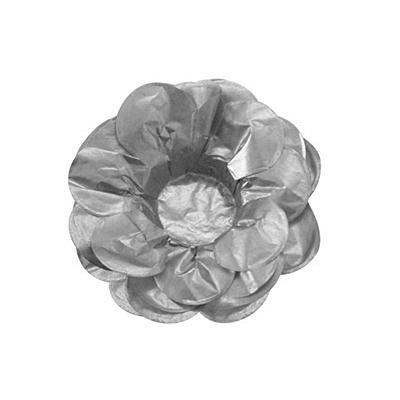 Forma Papel Seda Flor Prata c/40 unids (consultar disponibilidade antes da compra)