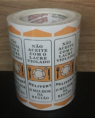 Etiqueta Lacre - Nao aceite Delivery 3mmx100mm 500 unids