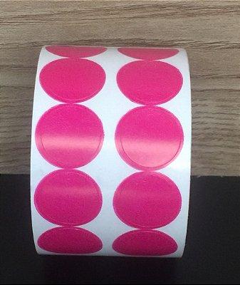 Etiqueta Redonda Pink 15mmx15mm 500 unids