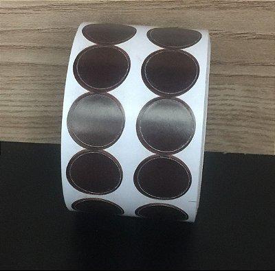 Etiqueta Redonda Marrom 15mmx15mm 500 unids