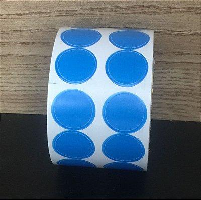 Etiqueta Redonda Azul 15mmx15mm 500 unids